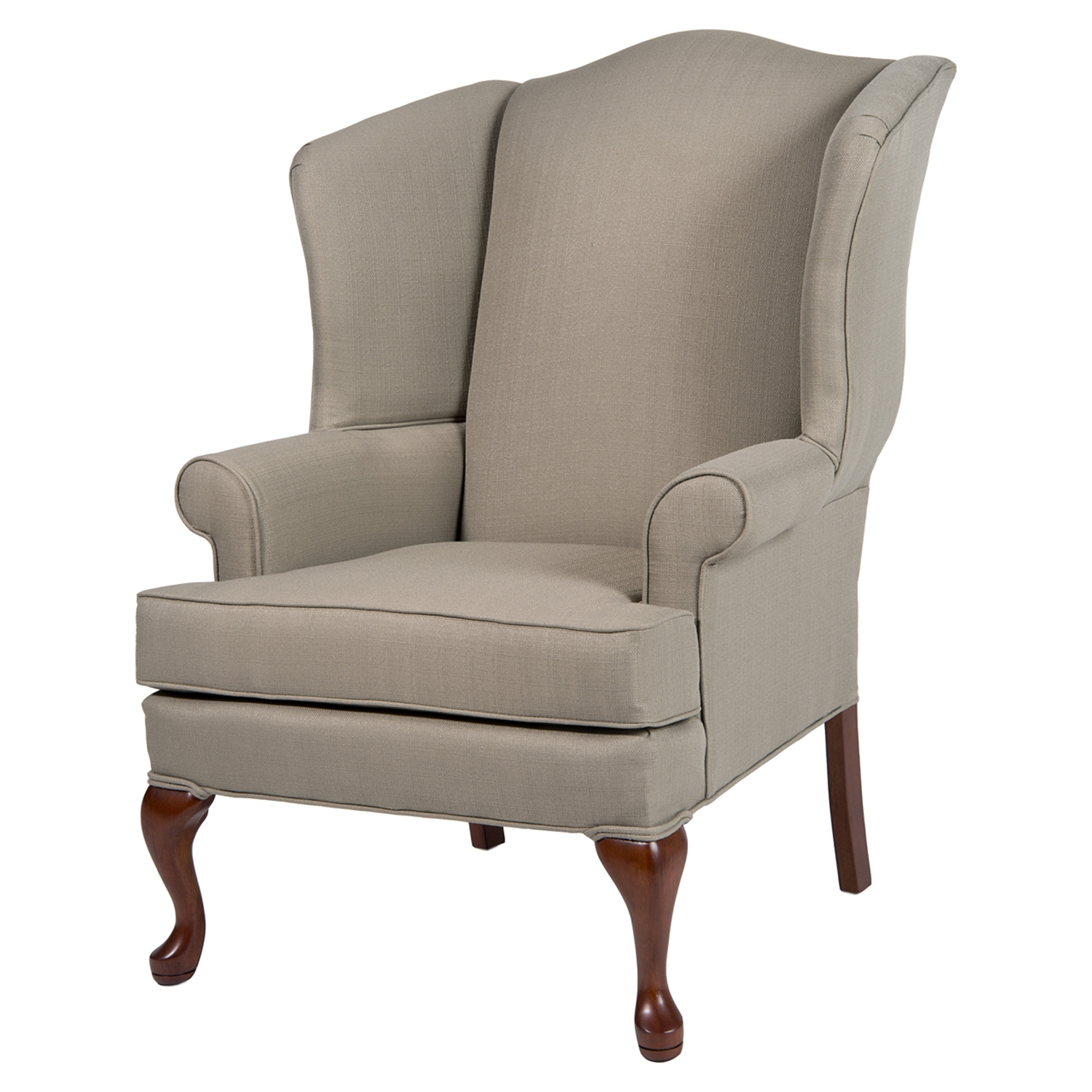Erin Wingback Chair - Beige, Cherry