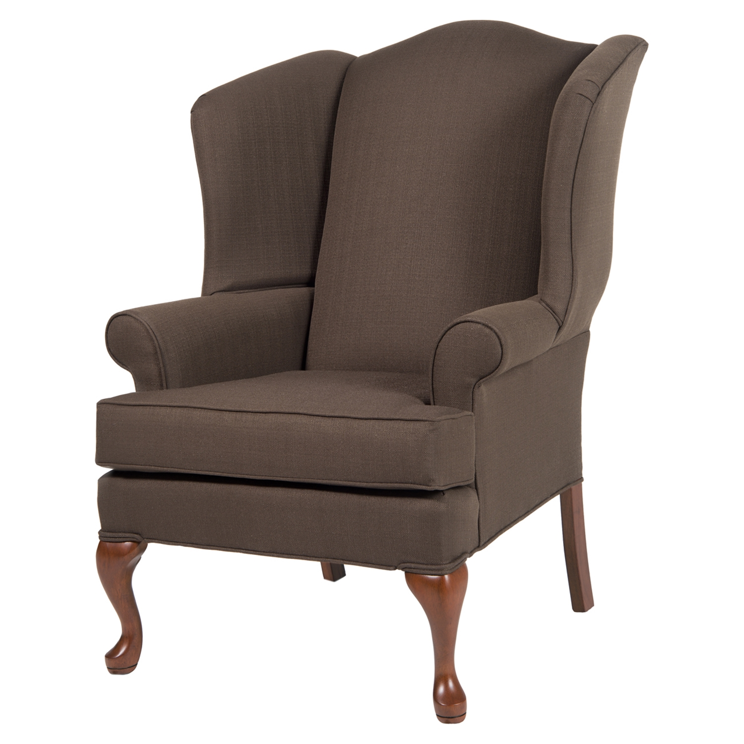 Erin Wingback Chair - Brown, Cherry