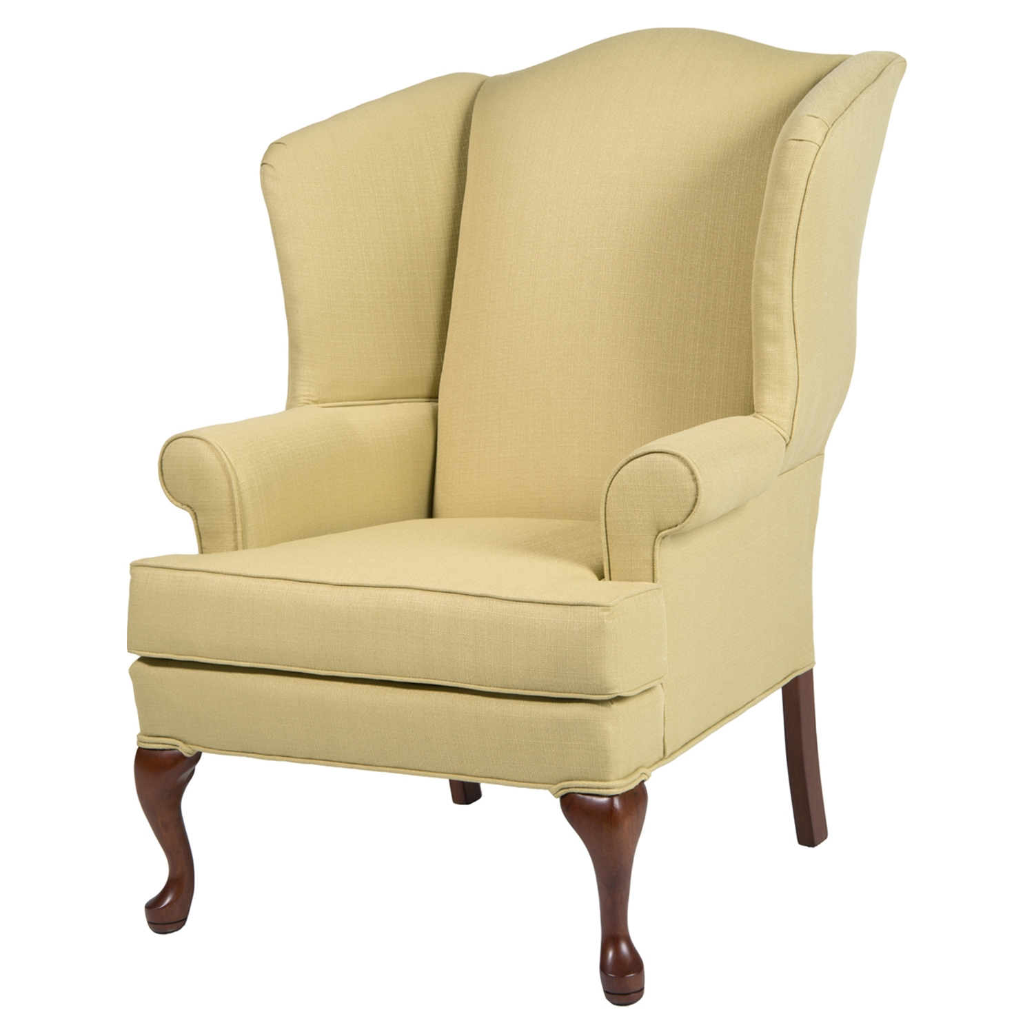 Erin Wingback Chair - Yellow, Cherry