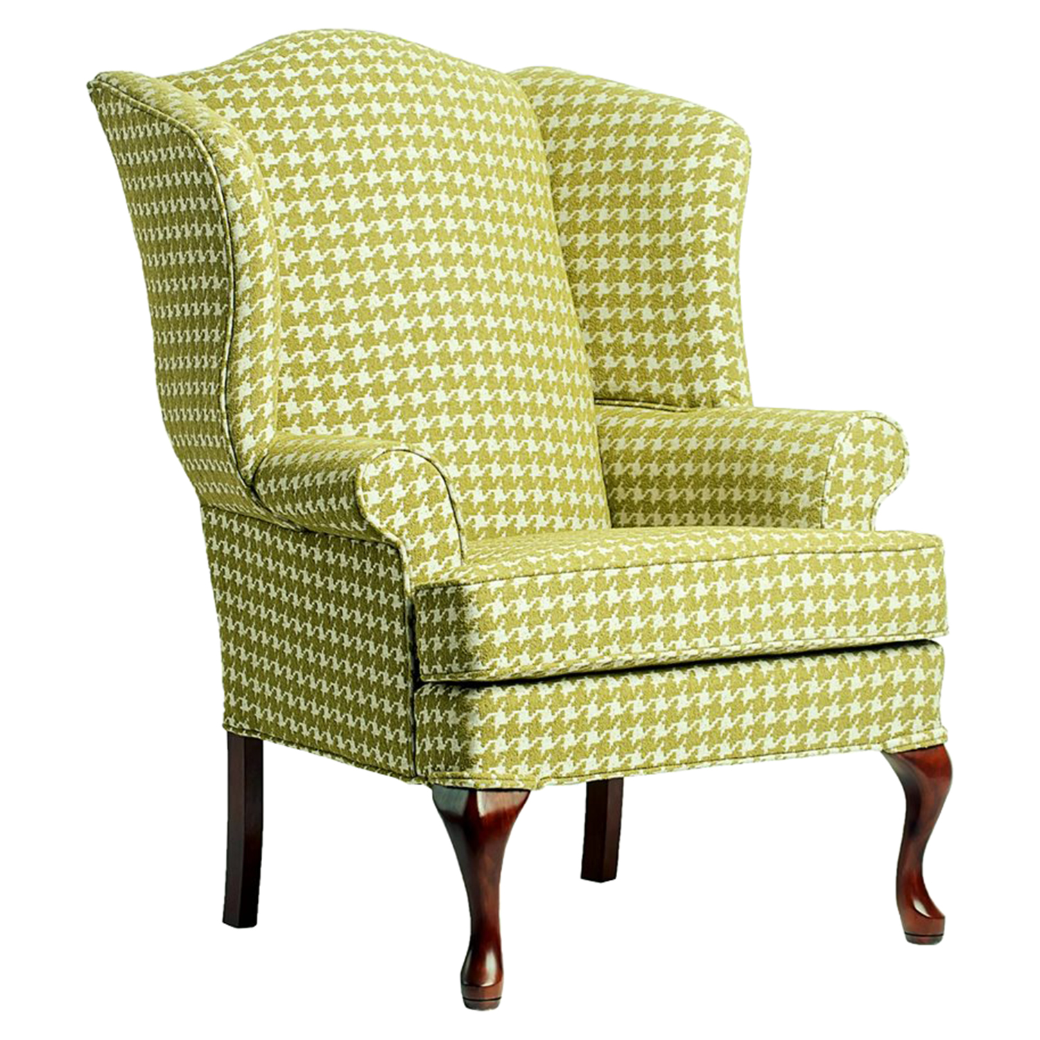 Leroux Wingback Chair - Lime, Cherry