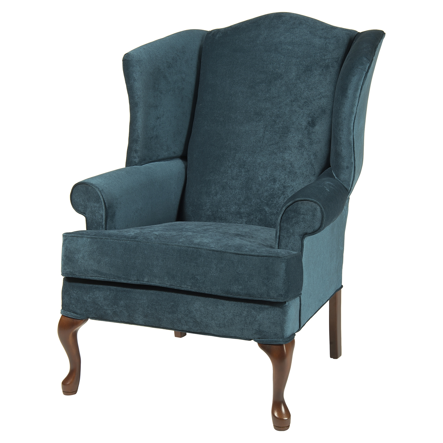 Elizabeth Wingback Chair - Ocean, Cherry