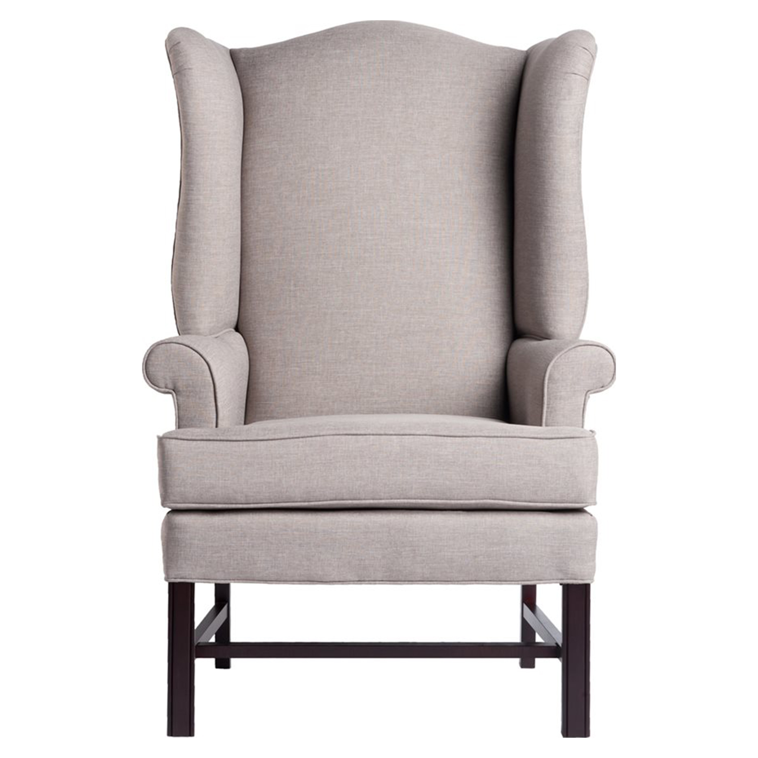 Chippendale Wingback Chair - Jitterbug Linen, Cherry - CP-8000-01
