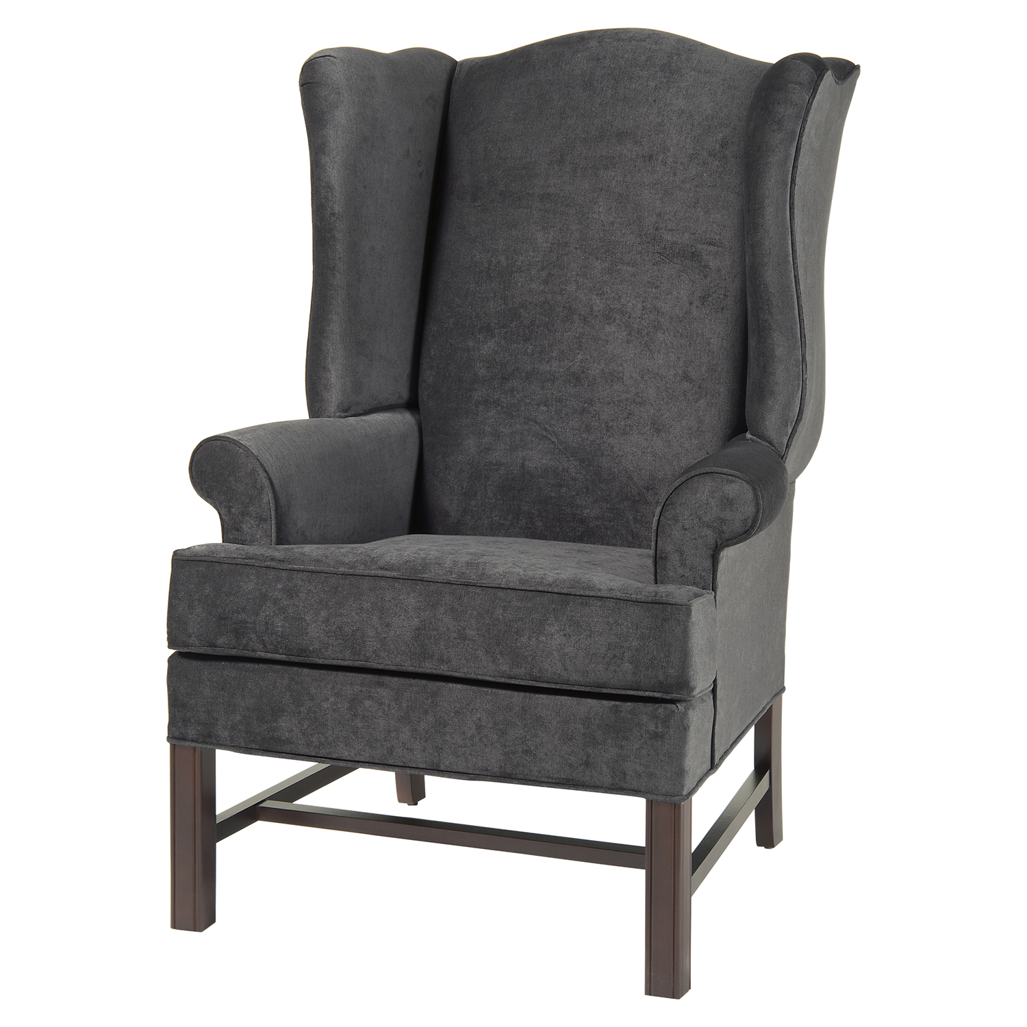 Chippendale Wing Chair - Charcoal