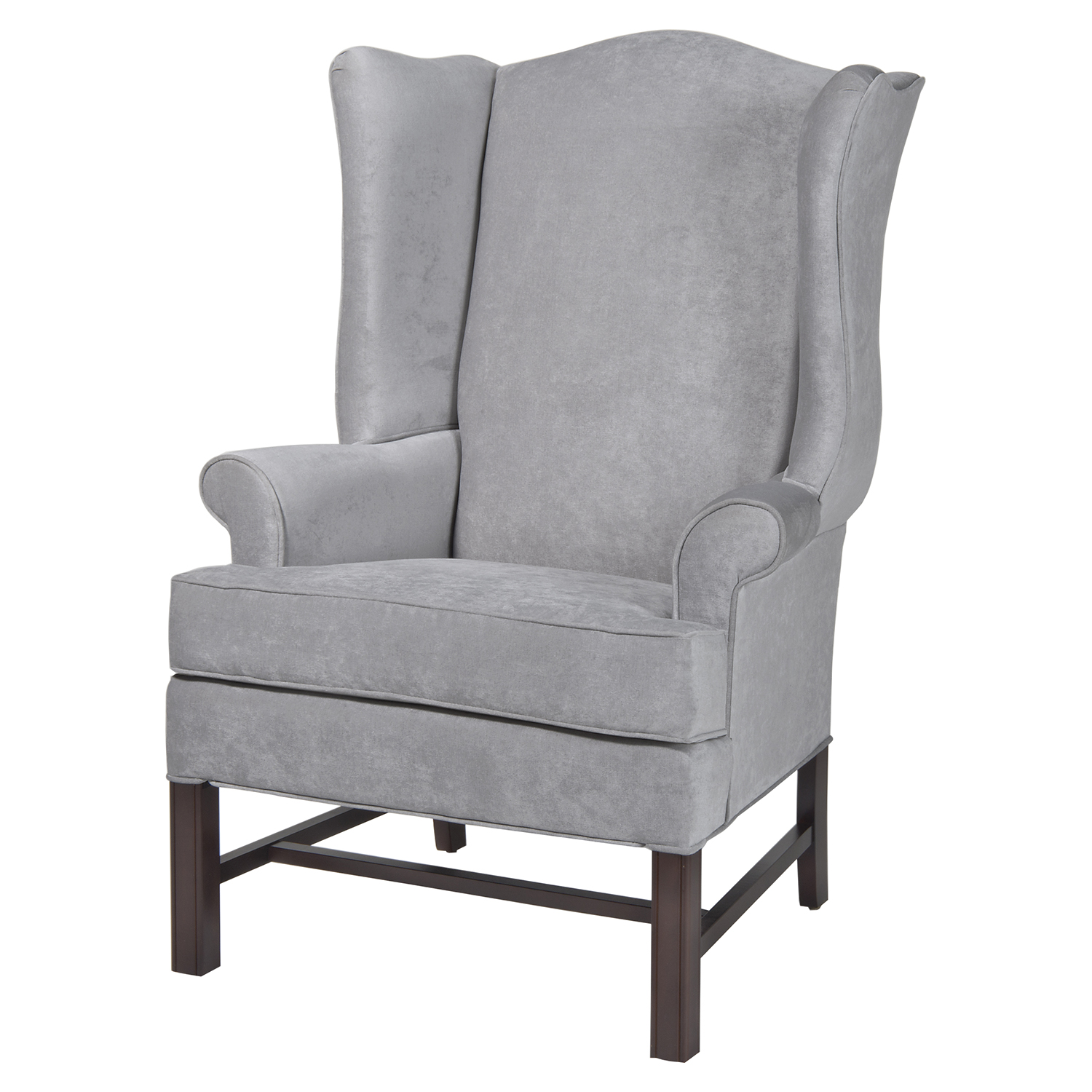 Chippendale Wing Chair - Silver