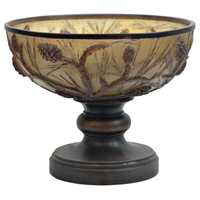 Autumn%27s Light Footed Decorative Bowl