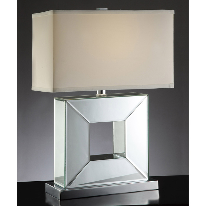 White rectangular shade table lamp dcg stores
