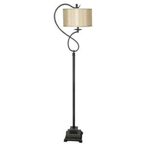 Bronze Metal Loop Floor Lamp