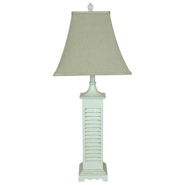 White shutter table lamp dcg stores aloadofball Images