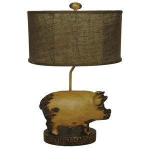 Pig Sculpture Table Lamp