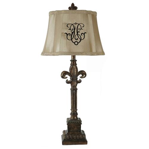 Fleur De Lis Table Lamp Dcg Stores