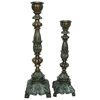Golden Bronze 2-Piece Candle Holder Set