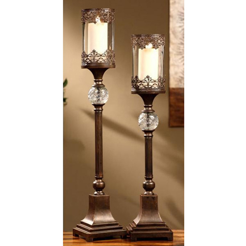 Regency Bronze 2 Piece Candle Holder Set Dcg Stores