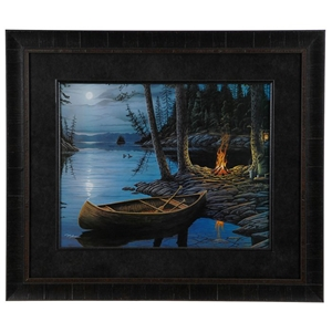 Peaceful Eve 2 Wall Art with Black Frame