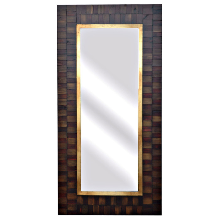 San joaquin tall wall mirror with wood frame dcg stores for Tall framed mirror