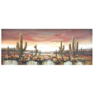 Sunset Oasis Wall Decor on Gallery Wrap Canvas