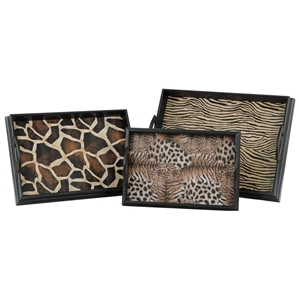 Safari 3-Piece Tray Set