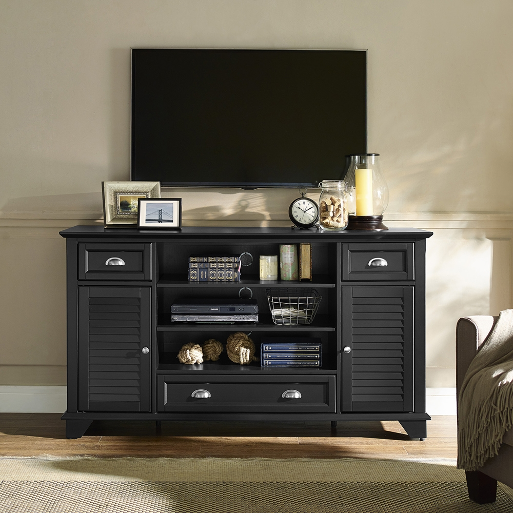 Palmetto 60 Quot Full Size Tv Stand Black Dcg Stores