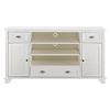 "Palmetto 60"" Full Size TV Stand - White - CROS-CF100660-WH"