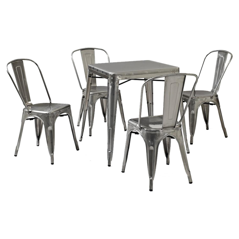 ... Amelia Metal Cafe Chair   Galvanized (Set Of 2)   CROS CF500617  ...