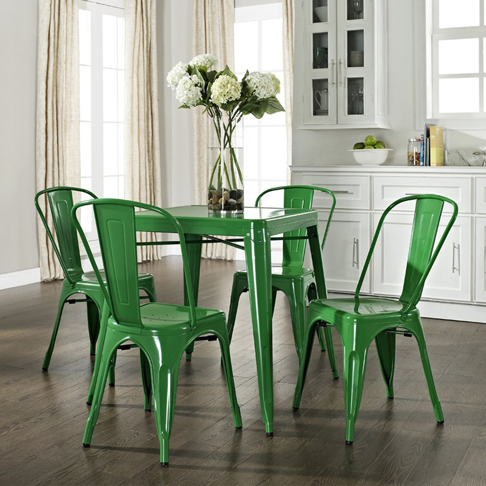 Amelia Metal Cafe Table Green Dcg Stores