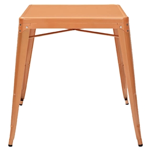Amelia Metal Cafe Table - Orange