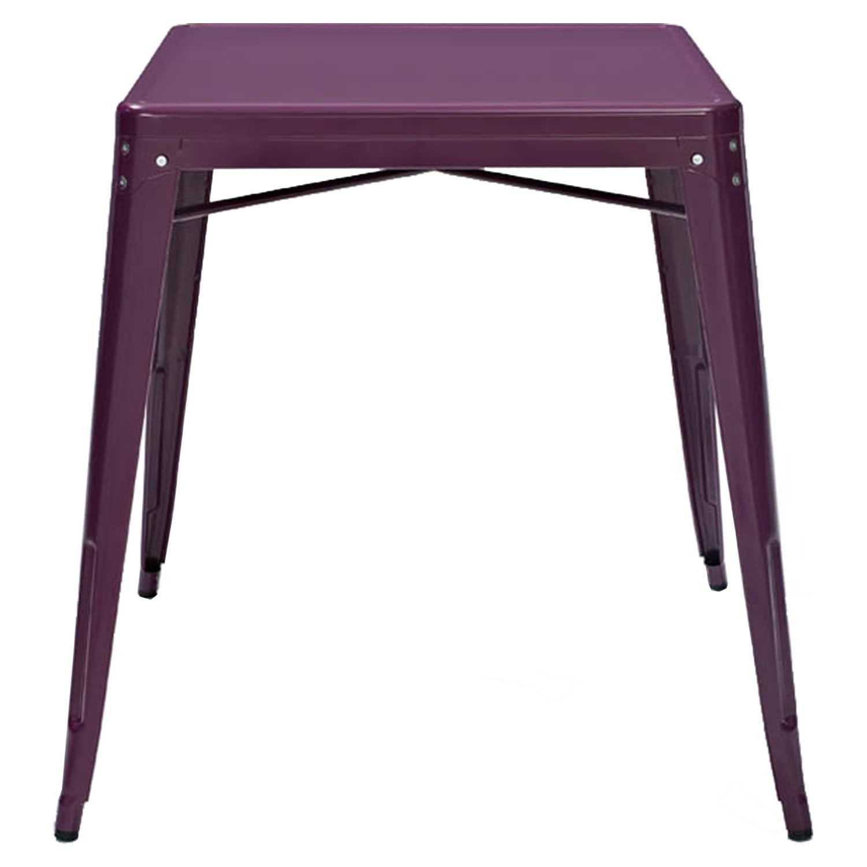 Amelia Metal Cafe Table Purple Dcg Stores