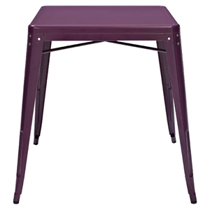 Amelia Metal Cafe Table - Purple