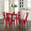 Amelia Metal Cafe Table - Red - CROS-CF220130-RE