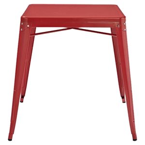 Amelia Metal Cafe Table - Red