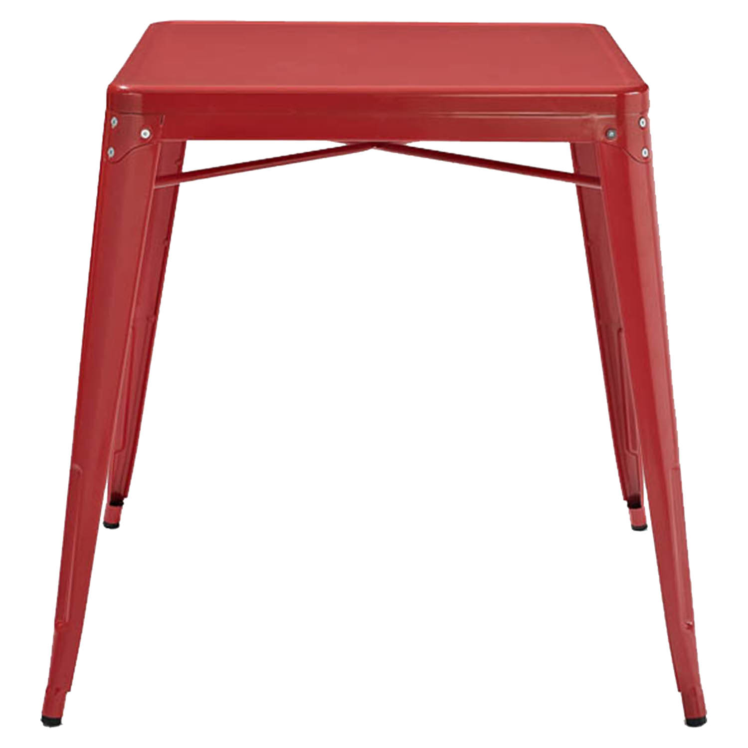 Amelia Metal Cafe Table Red Dcg Stores