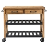 Roots Rack Industrial Kitchen Cart - Natural - CROS-CF3008-NA