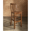 School House Bar Stool with 24 Inch Seat Height - Classic Cherry (Set of 2) - CROS-CF500324-CH