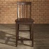 School House Bar Stool with 24 Inch Seat Height - Vintage Mahogany (Set of 2) - CROS-CF500324-MA