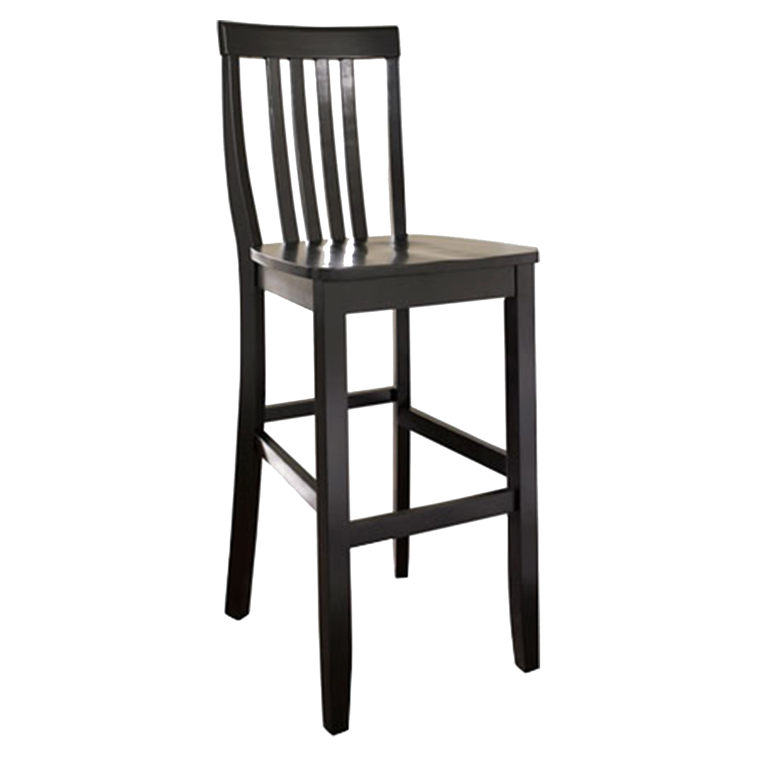 School House Bar Stool with 30 Inch Seat Height - Black (Set of 2) - CROS-CF500330-BK