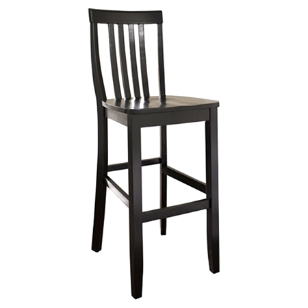School House Bar Stool With 30 Inch Seat Height Black Set Of 2 Dcg Stores