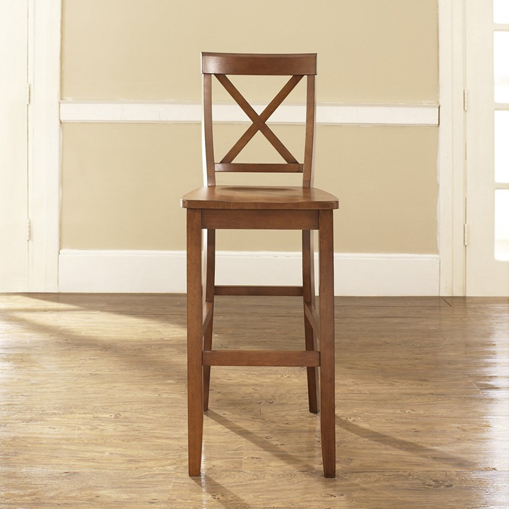 X Back Bar Stool With 30 Inch Seat Height Classic Cherry Set Of 2 Dcg Stores