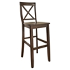 X-Back Bar Stool with 30 Inch Seat Height - Vintage Mahogany (Set of 2) - CROS-CF500430-MA
