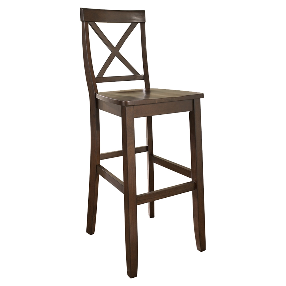 X Back Bar Stool With 30 Inch Seat Height Vintage