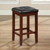 Upholstered Square Seat Bar Stool with 24 Inch Seat Height - Mahogany (Set of 2) - CROS-CF500524-MA