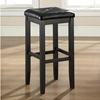 Upholstered Square Seat Bar Stool with 29 Inch Seat Height - Black (Set of 2) - CROS-CF500529-BK