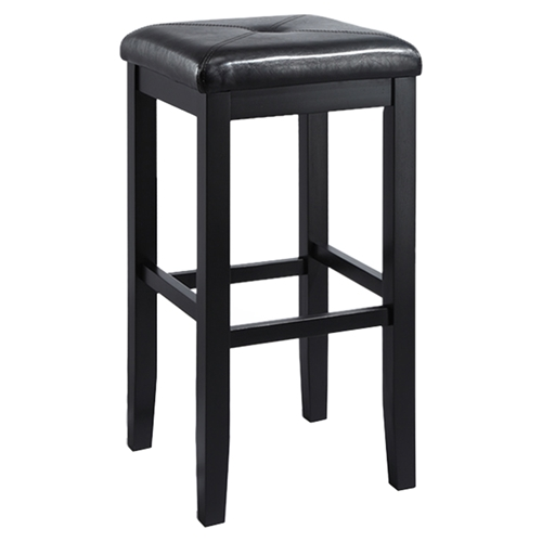 29 Inch Vintage Wood Bar Stool Dining Chair Counter Height: Upholstered Square Seat Bar Stool With 29 Inch Seat Height