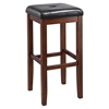 Upholstered Square Seat Bar Stool with 29 Inch Seat Height - Mahogany (Set of 2) - CROS-CF500529-MA