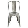Amelia Metal Cafe Chair Galvanized Set of 2