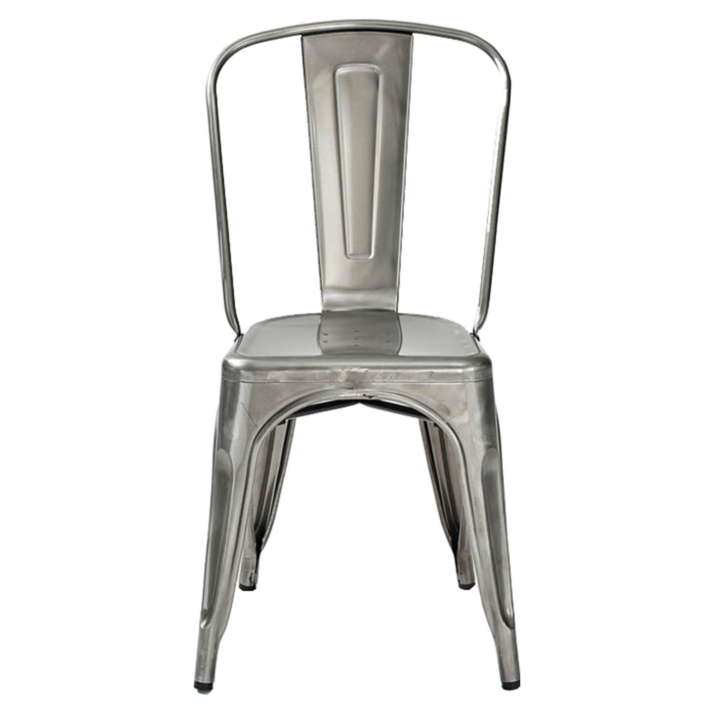 Amelia Metal Cafe Chair   Galvanized (Set Of 2)   CROS CF500617  ...