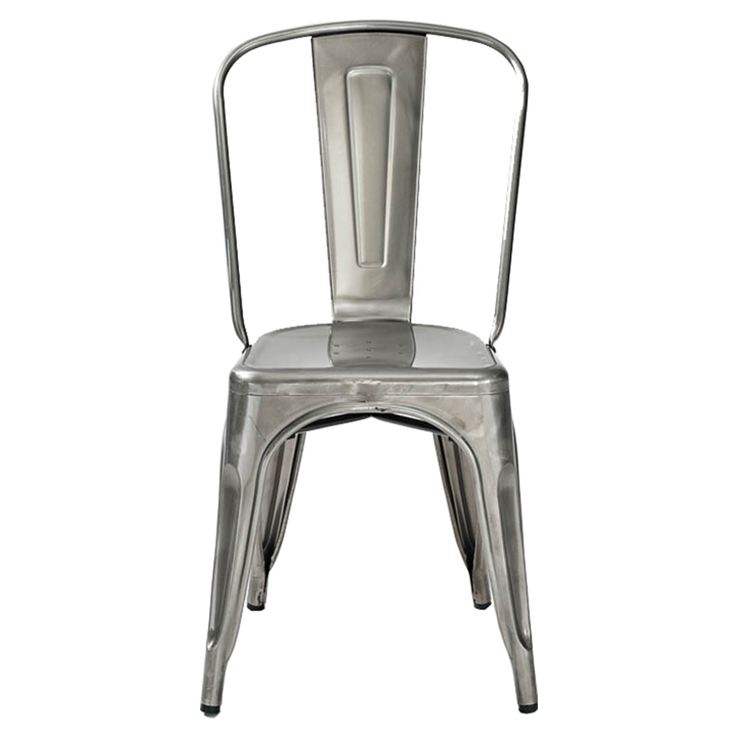 Cafe Kid Furniture Costco: Amelia Metal Cafe Chair - Galvanized (Set Of 2)
