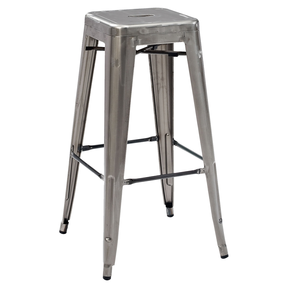 Amelia Metal Cafe Barstool Stackable Galvanized Set Of
