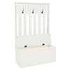 Ogden Entryway Hall Tree - White - CROS-CF6001-WH
