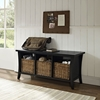 Wallis Entryway Storage Bench - Black - CROS-CF6002-BK
