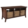 Wallis Entryway Storage Bench - Mahogany - CROS-CF6002-MA