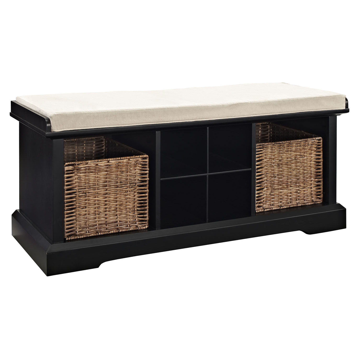 Brennan Entryway Storage Bench - Black - CROS-CF6003-BK